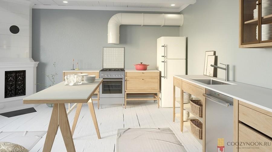 мебель, матовый, кухня, фото, пример, в скандинавском стиле