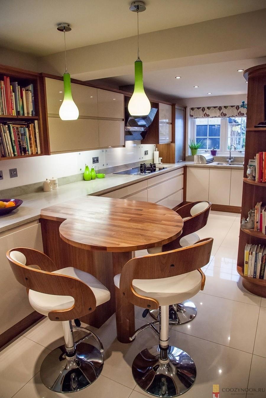 округлая, барная стойка, фото, пример, кухня