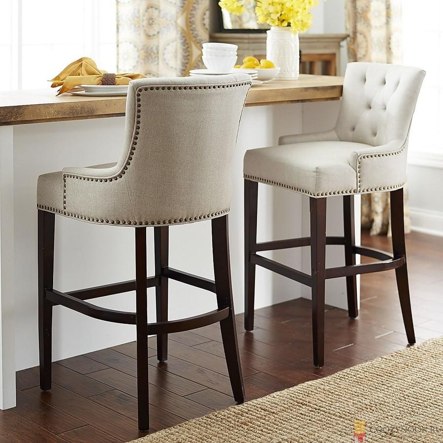 стул, с мягкой обивкой, барная стойка, фото, пример, кухня